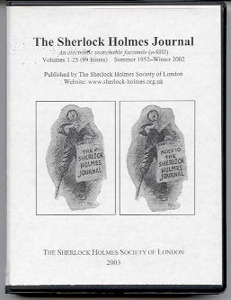 Sherlock Holmes Journal CD-ROM package cover